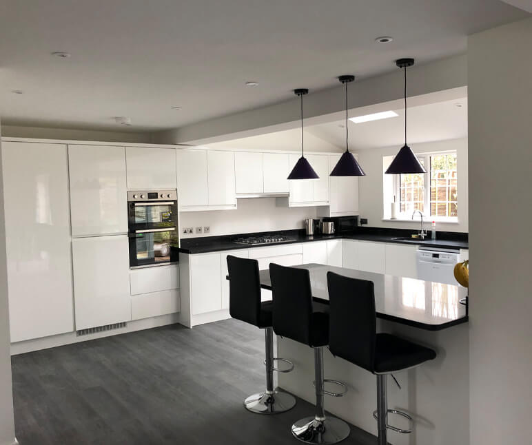 New Kitchen in new Home Extension in High Wycombe