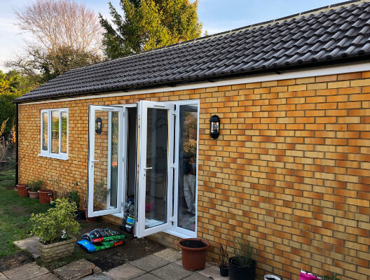 Home Extension with Double Doors